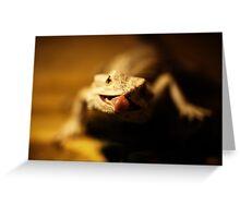 iguana tongue Greeting Card