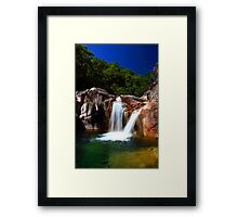 Twin Waterfall Framed Print