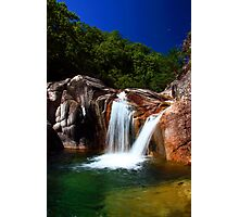 Twin Waterfall Photographic Print