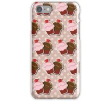 Cup cake background iPhone Case/Skin