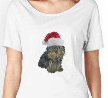 Yorkshire Terrier Santa Claus Merry Christmas Women's Relaxed Fit T-Shirt