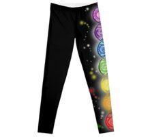 Yoga Yogis Pose Hatha 7 Chakras Symbols Gift T-Shirt Leggings