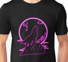 Purple Moon Wolf (Transparent) Unisex T-Shirt