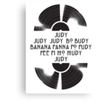 Judy  - The name game Canvas Print