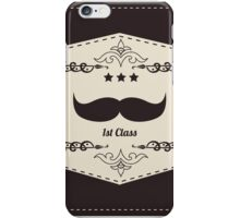 Hipster retro mustache iPhone Case/Skin