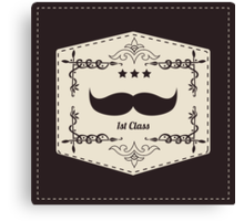Hipster retro mustache Canvas Print