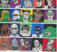 Batman Villains by PlatypusGirl