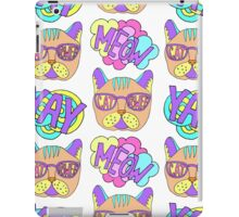 """Cat power"" pop art cartoon pattern iPad Case/Skin"