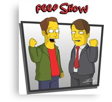 Peep Show - El Dude Brothers - Simpsons Style! Canvas Print