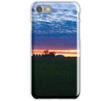 Red, white and blue sunset  iPhone Case/Skin