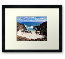 Famous Hawaiian Beaches collection. From Here to Eternity Beach. Framed Print