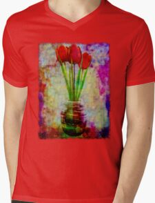 Three Tulips Mens V-Neck T-Shirt