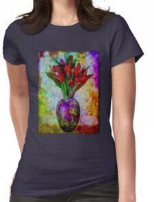 Tulip Fire Womens Fitted T-Shirt