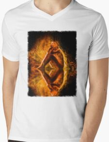 The Spirit and the Fire Mens V-Neck T-Shirt