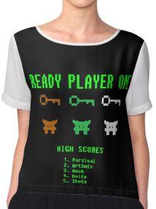 Ready Player One 8-Bit Game High Five Chiffon Top