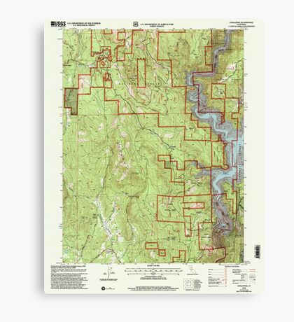 USGS TOPO Map California CA Challenge 100026 2000 24000 geo Canvas Print