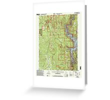 USGS TOPO Map California CA Challenge 100026 2000 24000 geo Greeting Card