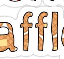 Friends, Waffles, Work Sticker