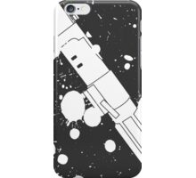 Darth Vader Lightsaber Paint Splatter (Black and White) iPhone Case/Skin