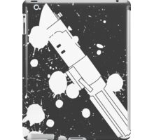Darth Vader Lightsaber Paint Splatter (Black and White) iPad Case/Skin