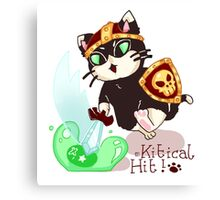 It's a Kitical Hit! Canvas Print
