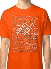 Back to the Future Quotes Classic T-Shirt