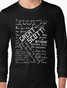 Back to the Future Quotes Long Sleeve T-Shirt