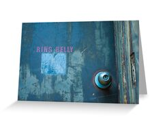 Ring Belly Greeting Card