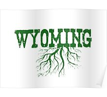 Wyoming State Roots Poster