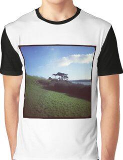 Pine trees, Helford River Graphic T-Shirt