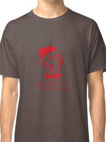 God Bless Everyone - Dog wearing Red Santa Hat Classic T-Shirt