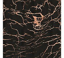 Black & Rose-Gold Marble Photographic Print