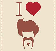 I love vintage hipster hair style and mustache by BlueLela