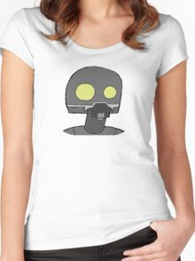 Tempered Robot Colored Women's Fitted Scoop T-Shirt