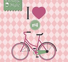 Vintage bicycle background by BlueLela