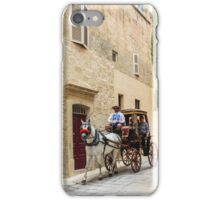 Horse Drawn Through The Silent City iPhone Case/Skin