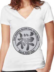KamLAND Zen Collaboration Women's Fitted V-Neck T-Shirt