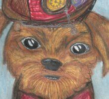 Steampunk Dog Portrait Sticker
