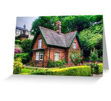 Cottage in Princes Street Gardens Greeting Card