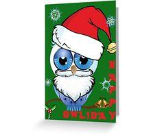 Happy Owlidays (green) Greeting Card