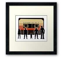 Guardians of the Awesome Mix Framed Print