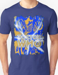 Exploding Blue Police Call Box T-Shirt