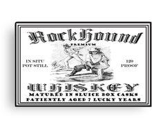 Rockhound Whiskey Canvas Print