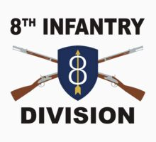 8th Infantry Division - Crossed Rifles by VeteranGraphics
