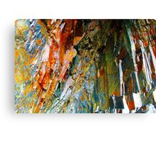 Cave Copper Grey Stone Geology Canvas Print