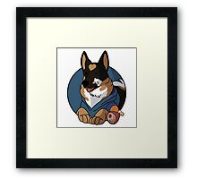 BLU Guard Dog Framed Print