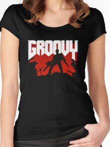 Doomy and Groovy Women's Fitted Scoop T-Shirt