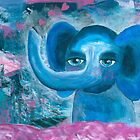 Elephant on cloud no 9 by lenaliluna