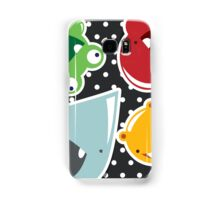 Background with cute colorful monsters Samsung Galaxy Case/Skin