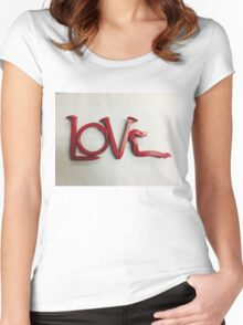 Love In Red Women's Fitted Scoop T-Shirt